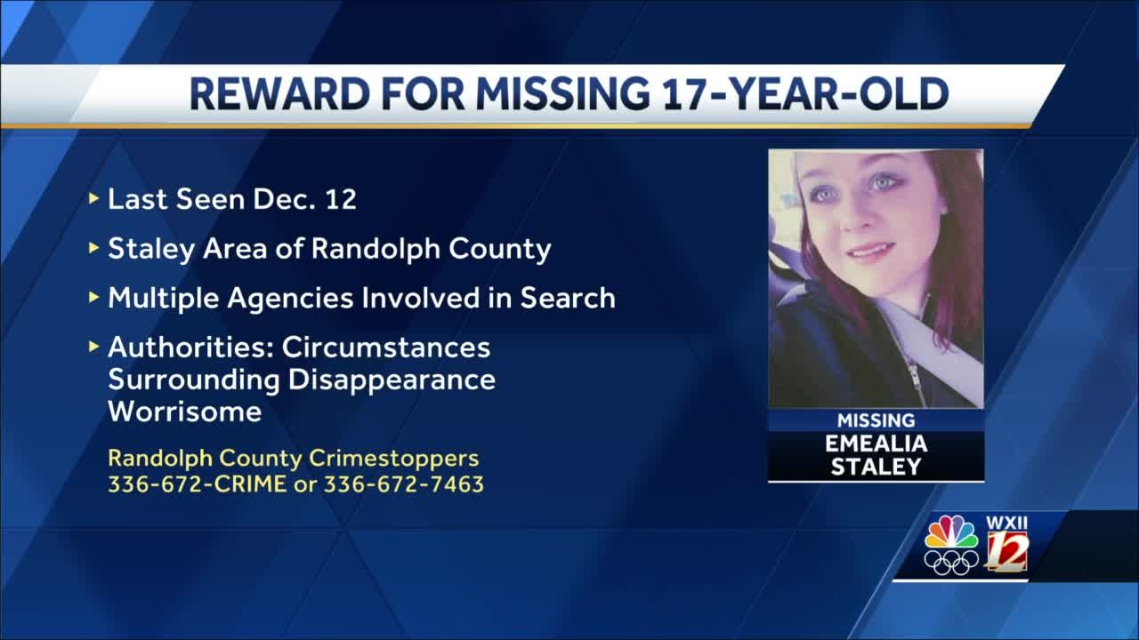 Randolph County Crime Stoppers offers reward for missing teenager being looked for by multiple law enforcement agencies