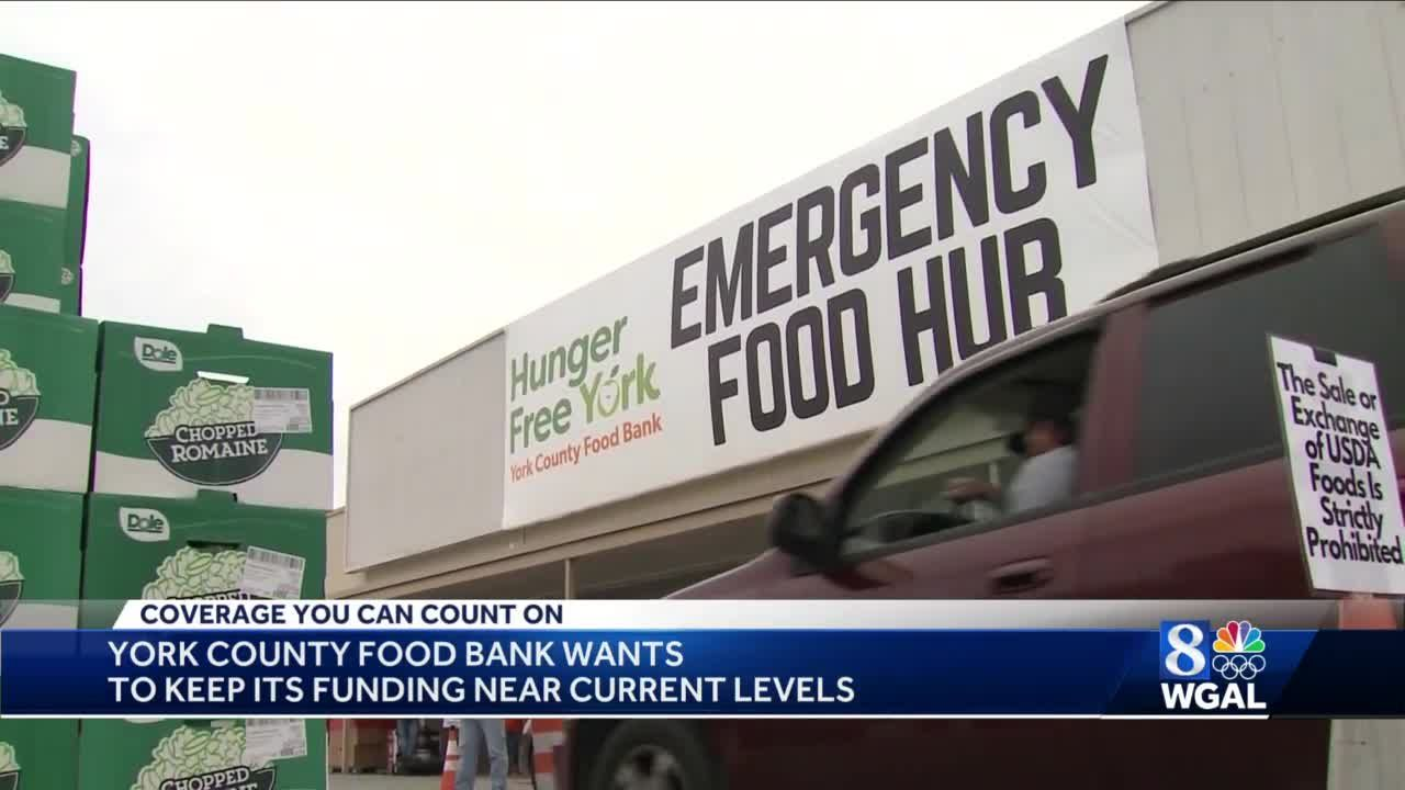 York County Food Bank wants funding to remain at current levels