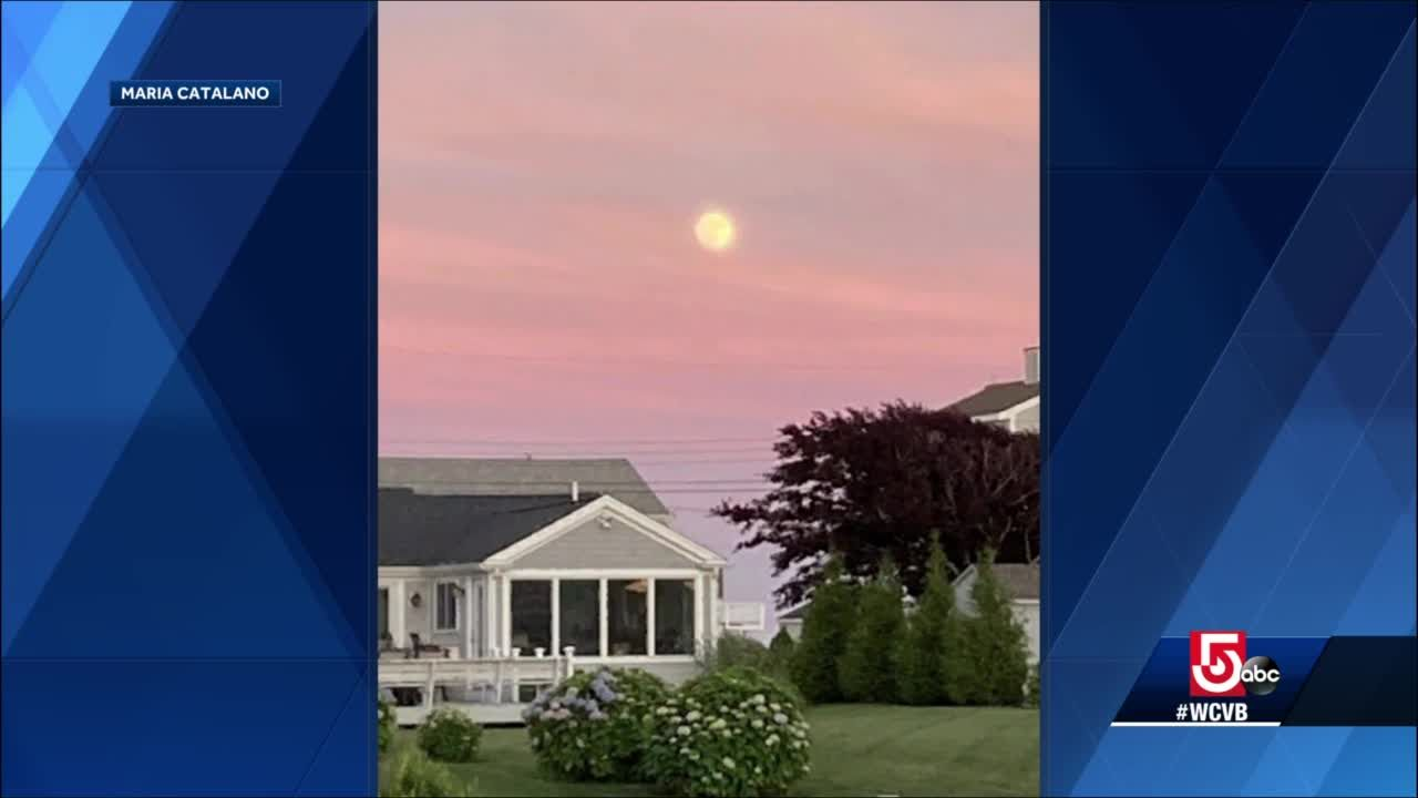 Wake Up Call: Moonrise over West Dennis