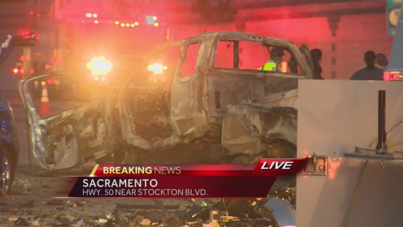 Deadly crash clogs traffic on Highway 50 in Sacramento