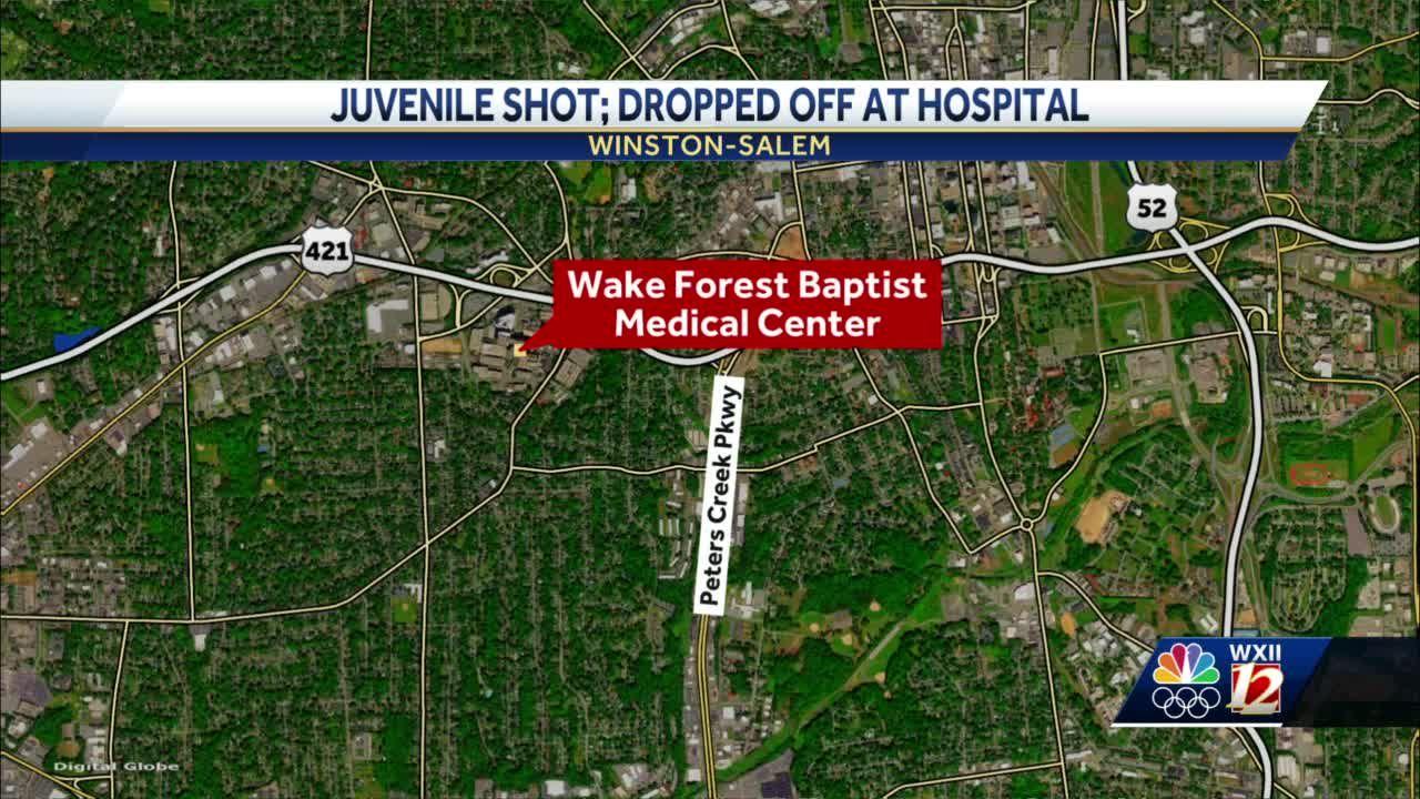 Winston-Salem police investigate after juvenile shot, dropped off at hospital