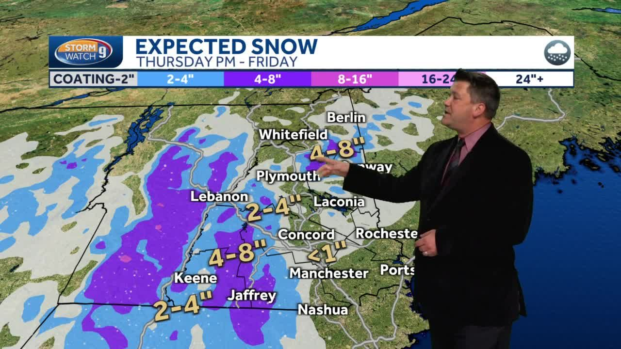 Extended look: Rain and snow coming to NH