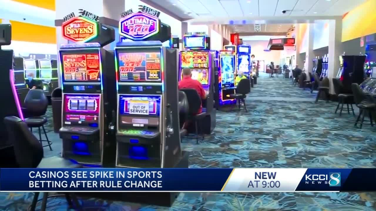 Iowa casinos see increase in revenue since change in sports betting policy