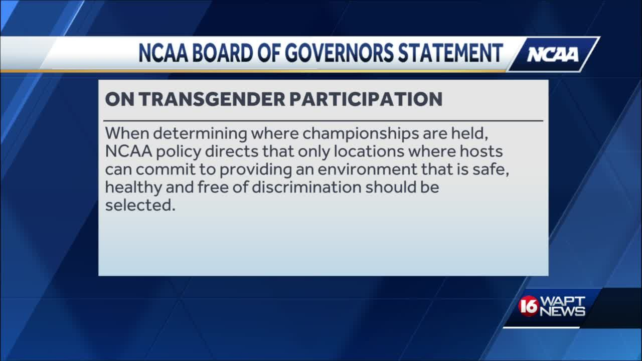 NCAA speaks out about trans athlete ban