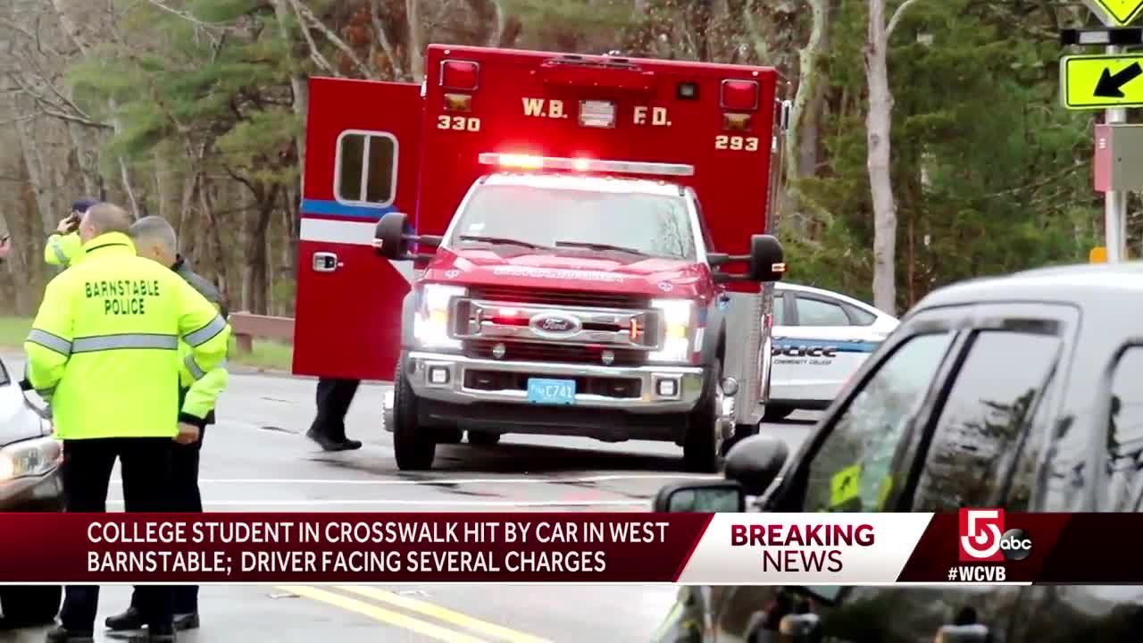 Cape Cod college student hit by car on way to class