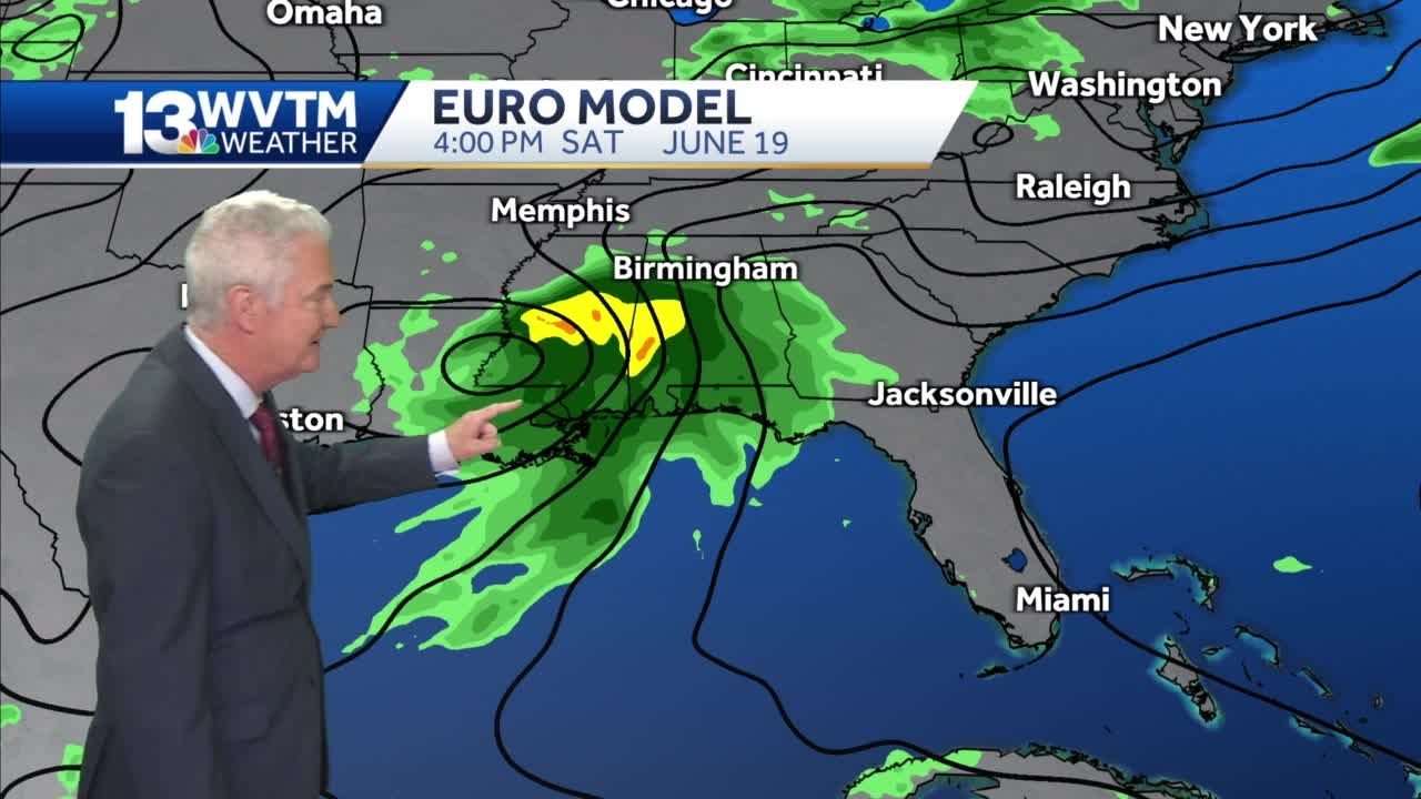 Stormy weekend ahead in central Alabama; monitoring a system in the Gulf