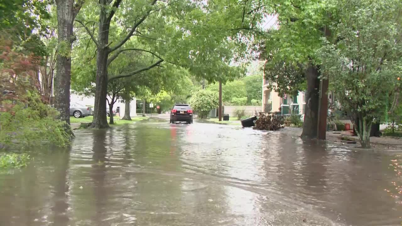 Portion of Freret Street in New Orleans plagued by flooding