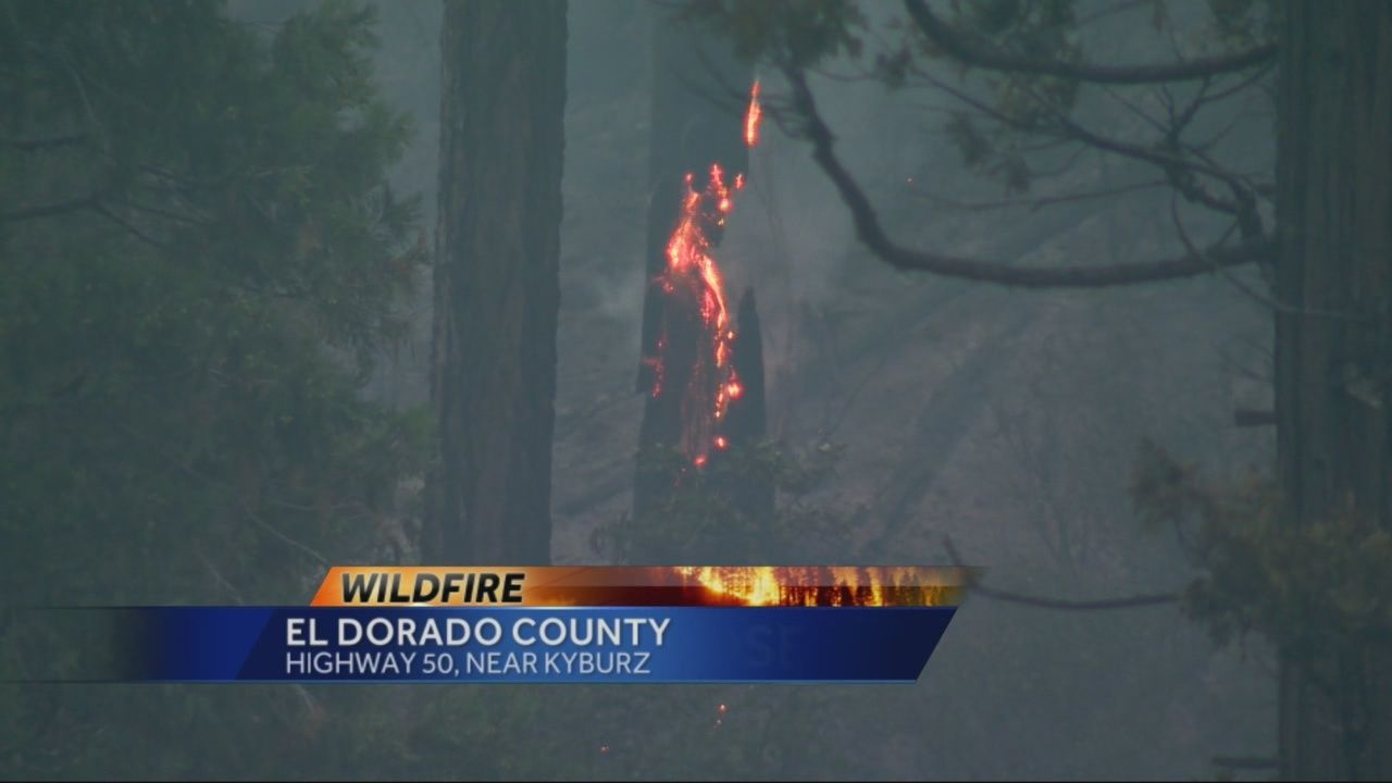 Highway 50 remains closed due to Kyburz wildfire