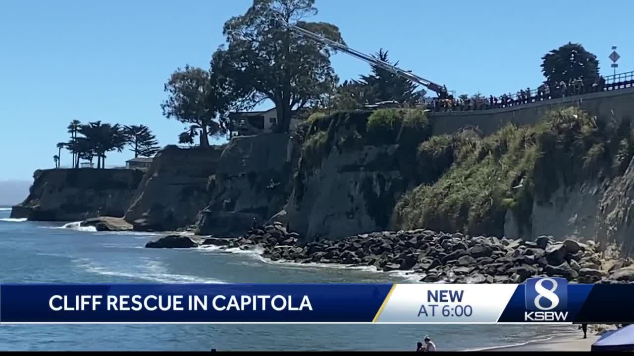 Man climbing rock wall rescued in Capitola