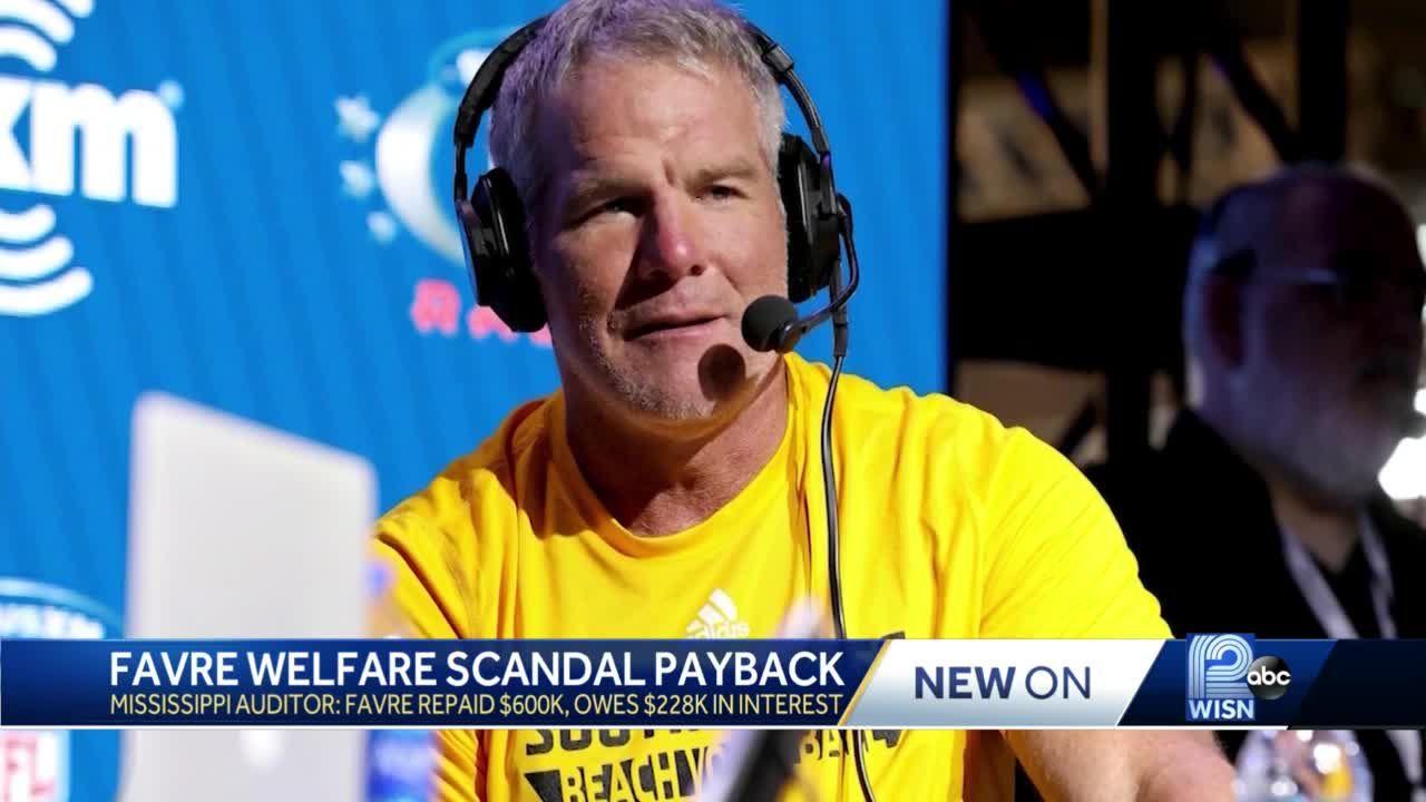 Brett Favre pays back $600K in welfare money he accepted for speeches he didn't attend