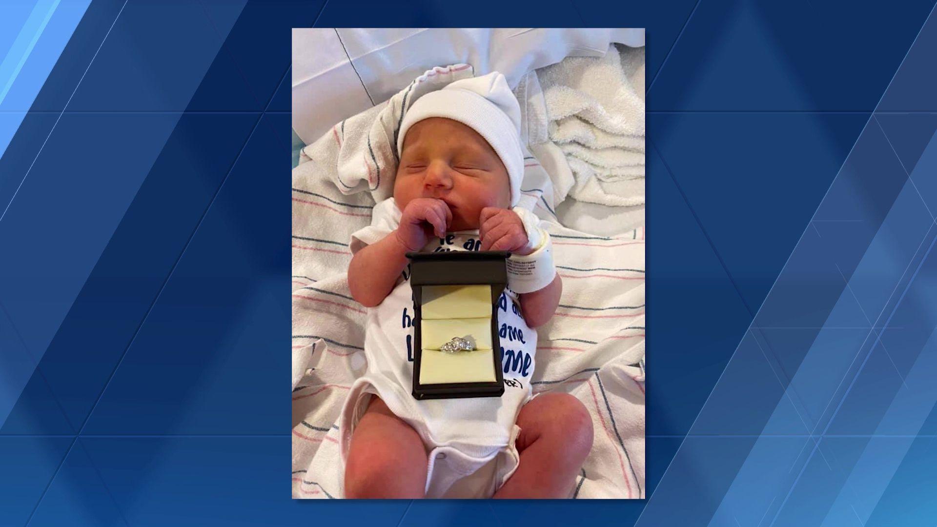 Massachusetts newborn helps dad with maternity ward proposal