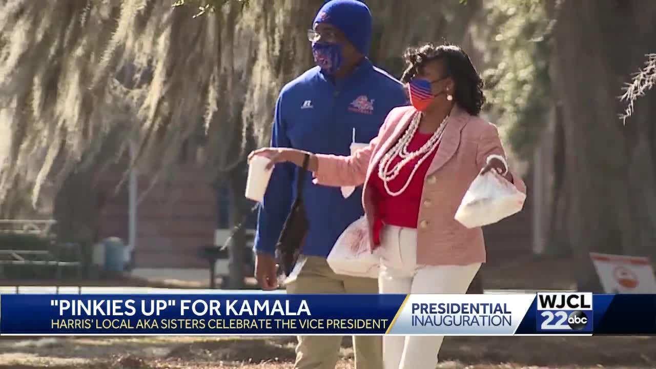 Pinkies Up for Kamala Harris