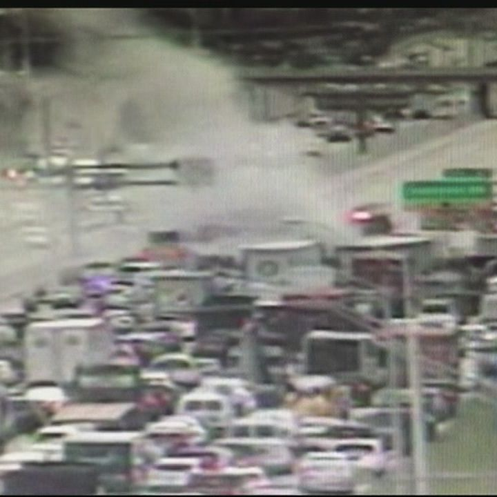 Fiery crash snarls I-95 traffic