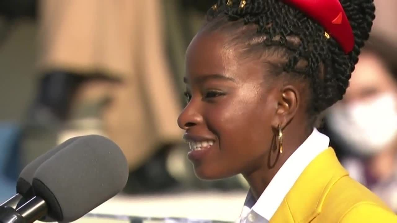 Recent Harvard graduate Amanda Gorman reads poem at President Biden's inauguration