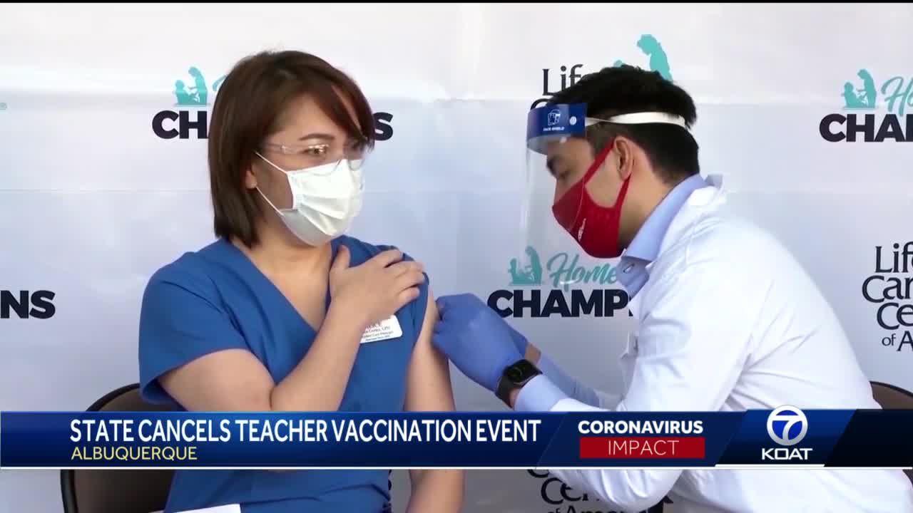 APS teacher vaccination event canceled