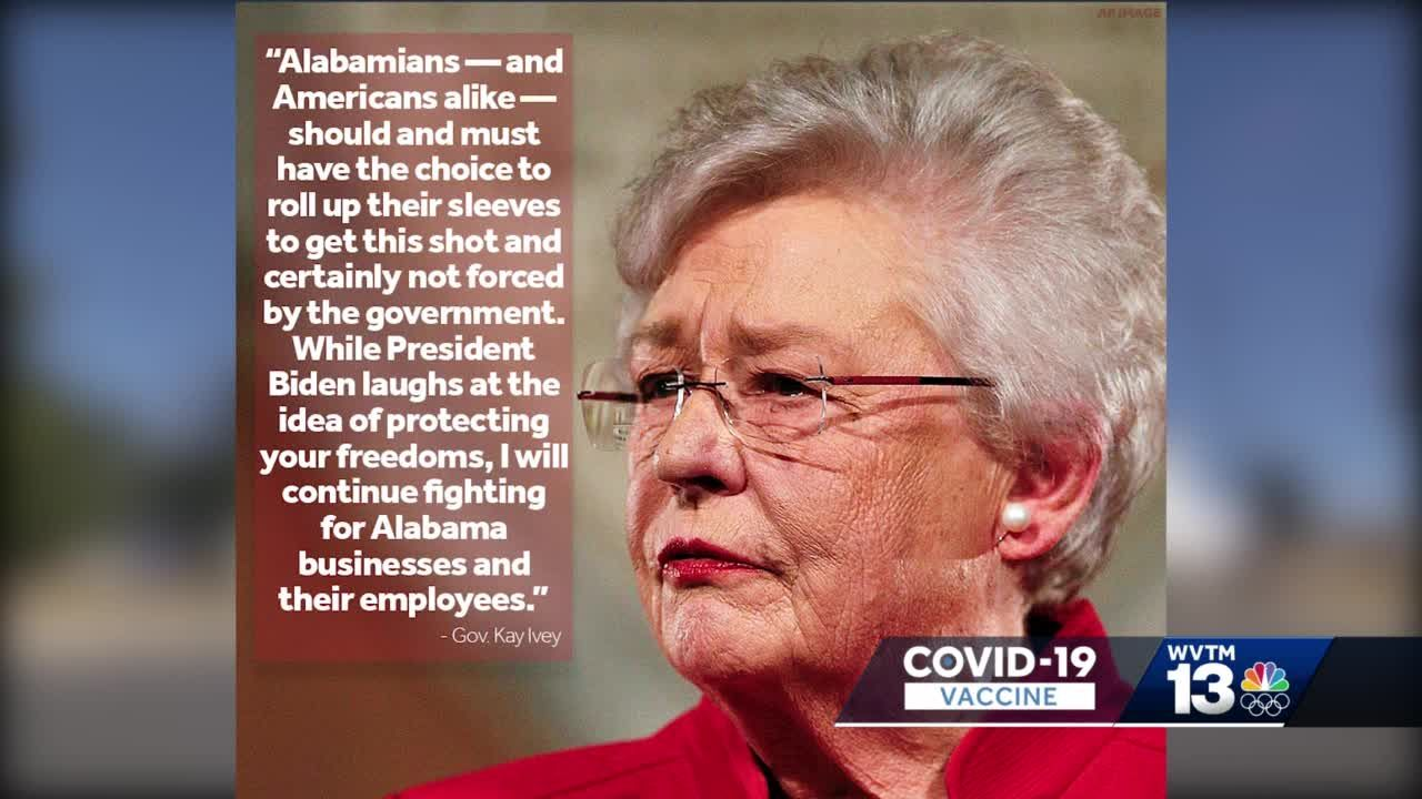 """Alabama governor signs executive order to """"fight the overreaching"""" vaccine mandates"""