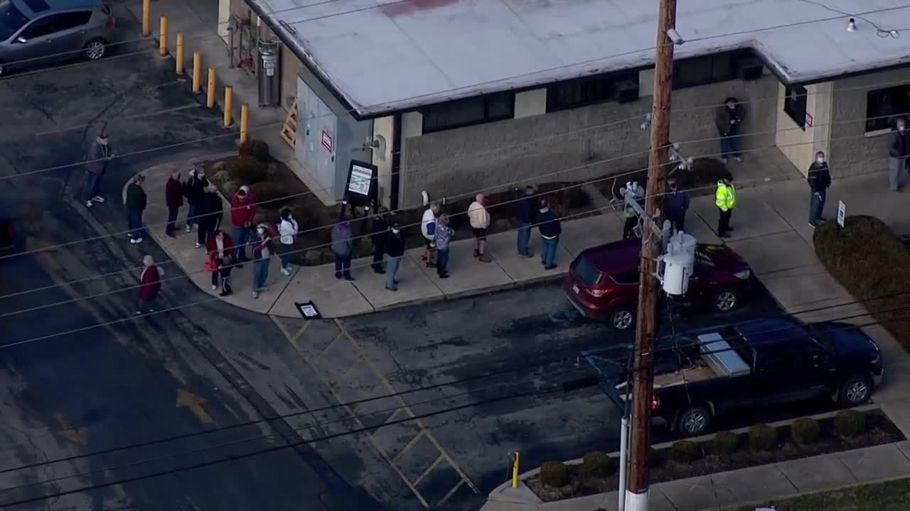 WATCH: Line is long on first day of Mike Linnig's 97th season