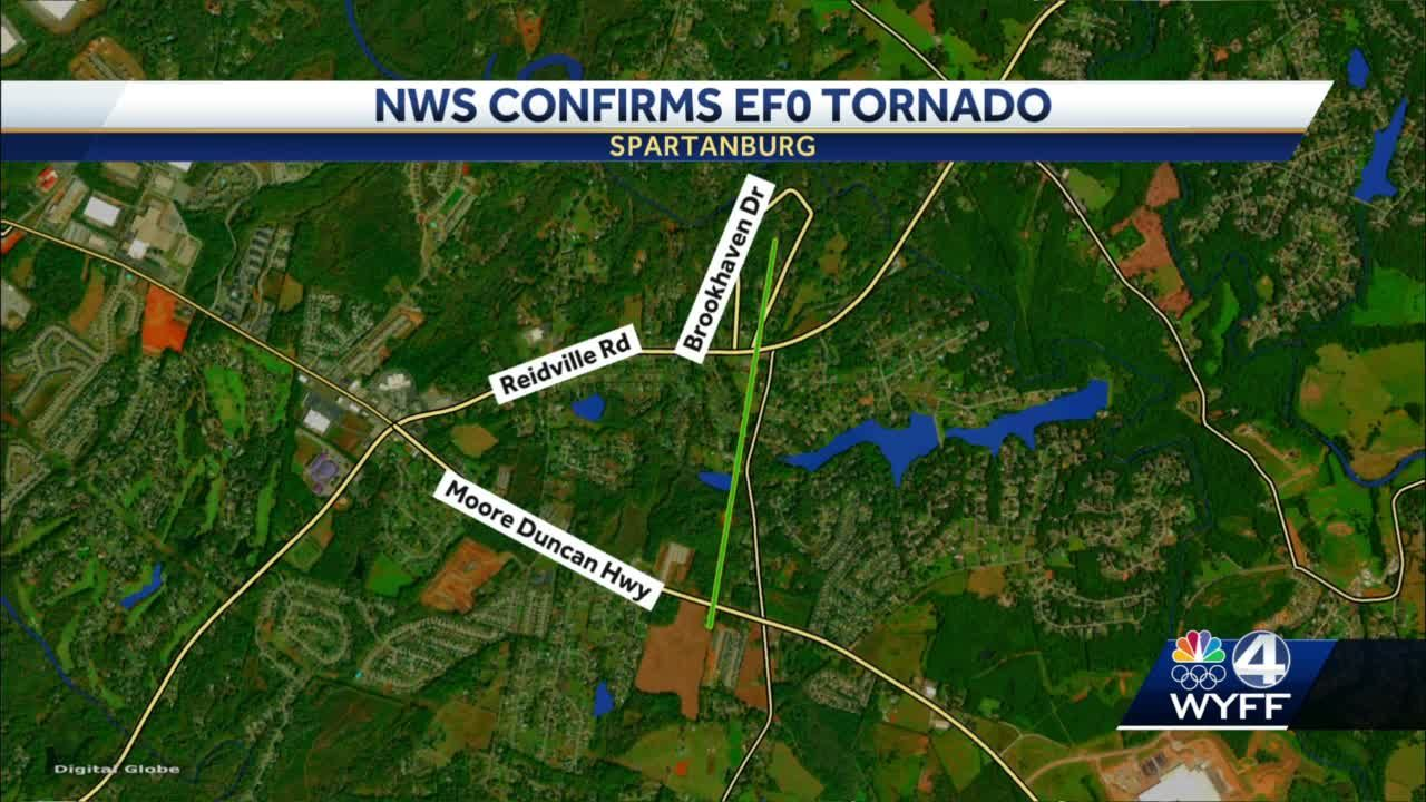 NWS confirms EF0 tornado in Spartanburg County
