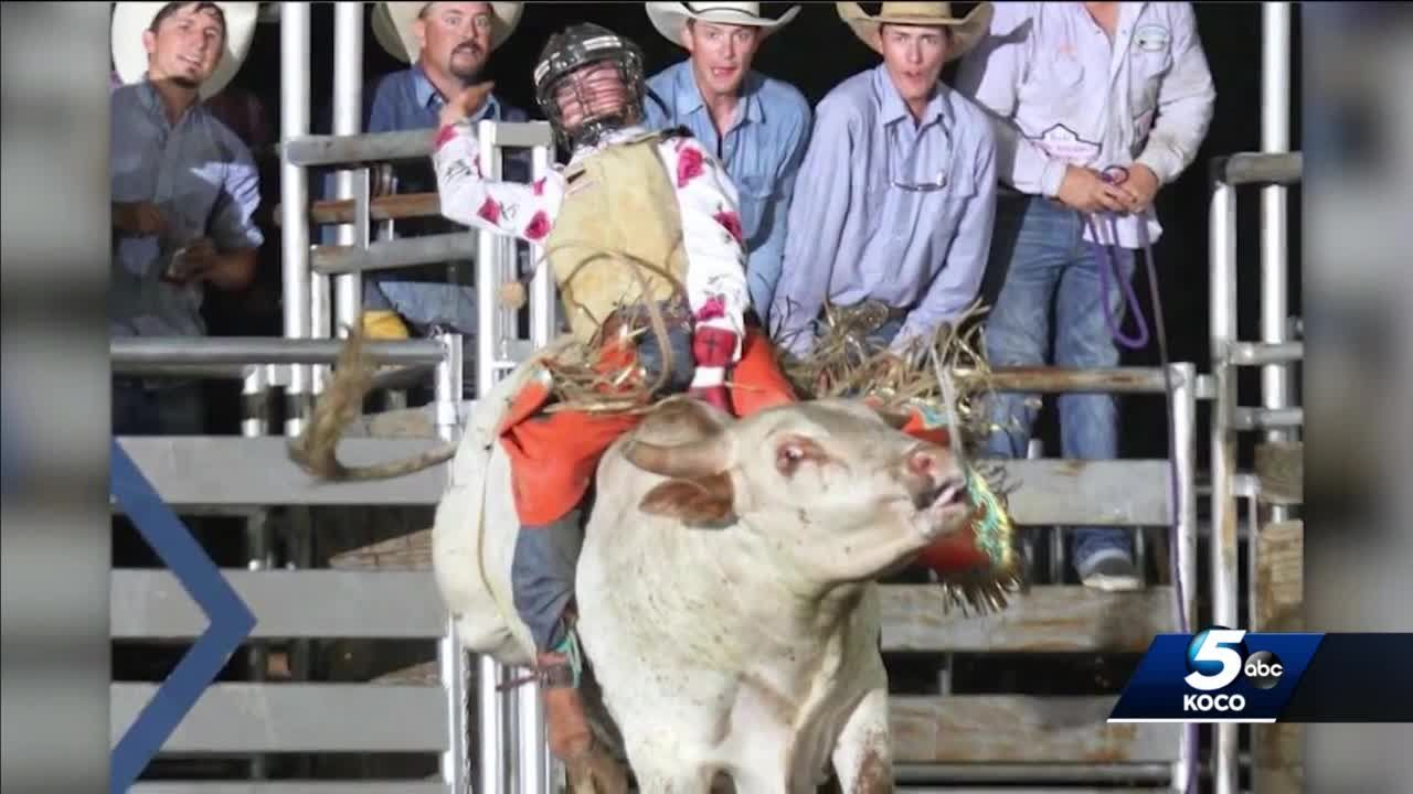 Oklahoma teen getting back in the saddle after suffering brain injury in bull riding accident