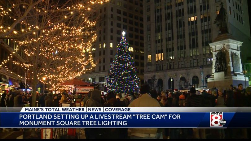 Portland Maine Monument Square Christmas Tree 2021 Tree Cam To Replace Annual Tree Lighting Ceremony In Downtown Portland