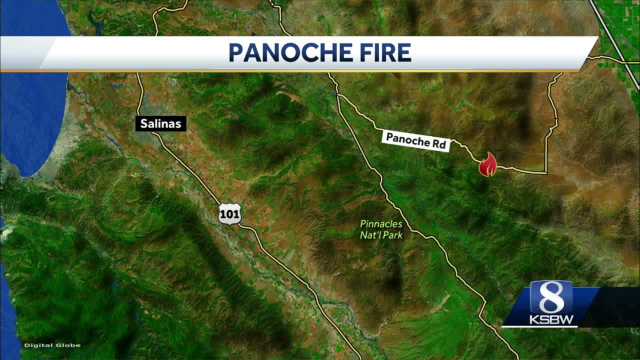 Cal Fire responding to vegetation fire in a remote area of San Benito County
