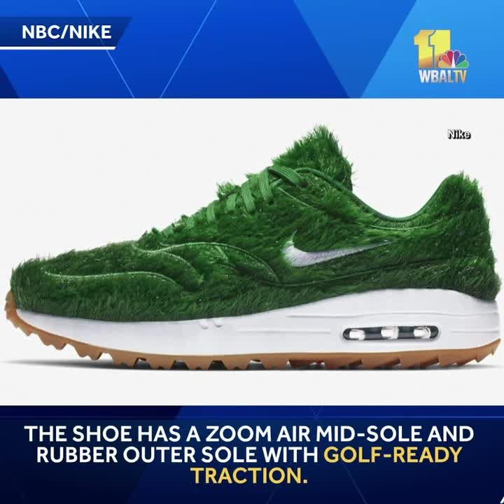 New golf shoe made to look like     grass
