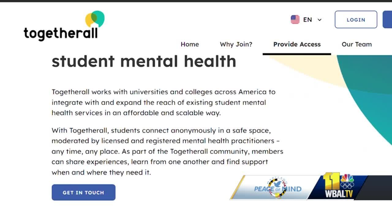New platform offers Maryland college students anonymous outlet for mental health
