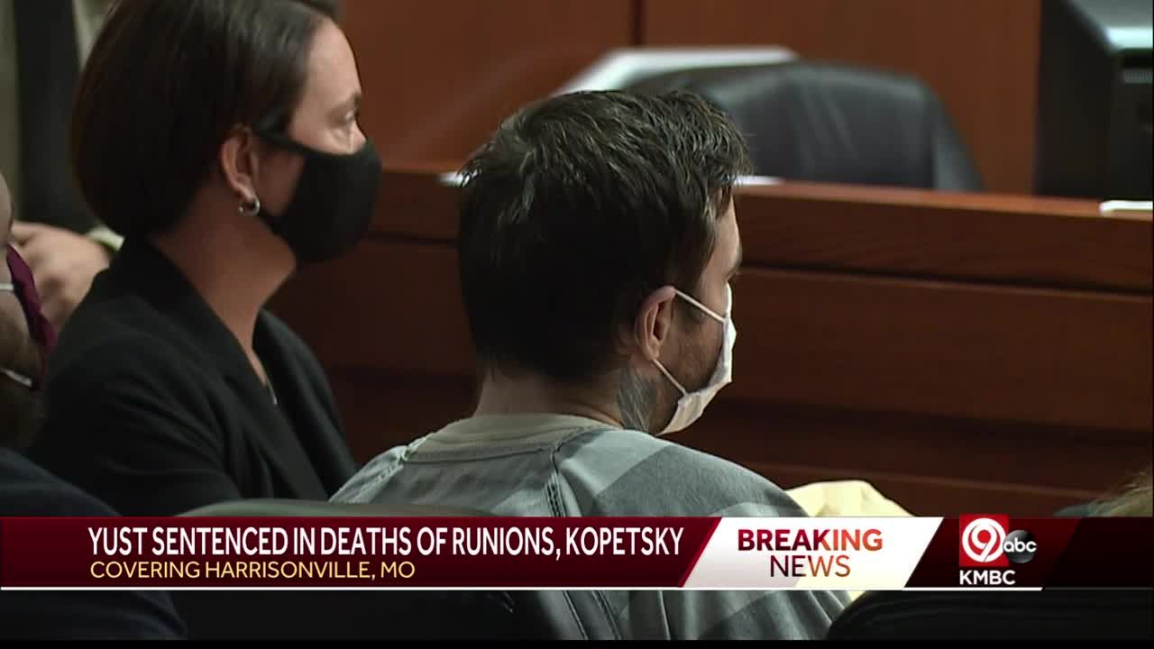 Judge sentences convicted murderer Kylr Yust to 15-years for death of Kara Kopetsky, life for Jessica Runions