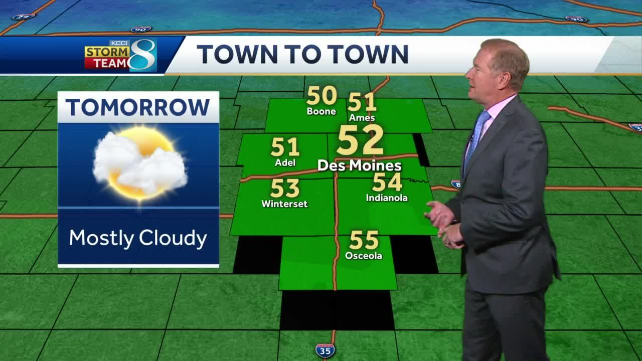 Wednesday brings clouds, warmer temperatures