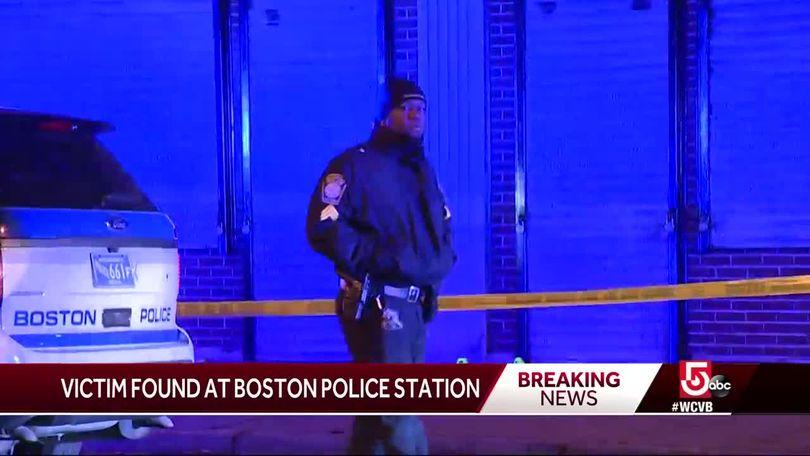 Shooting victim found at Boston police station