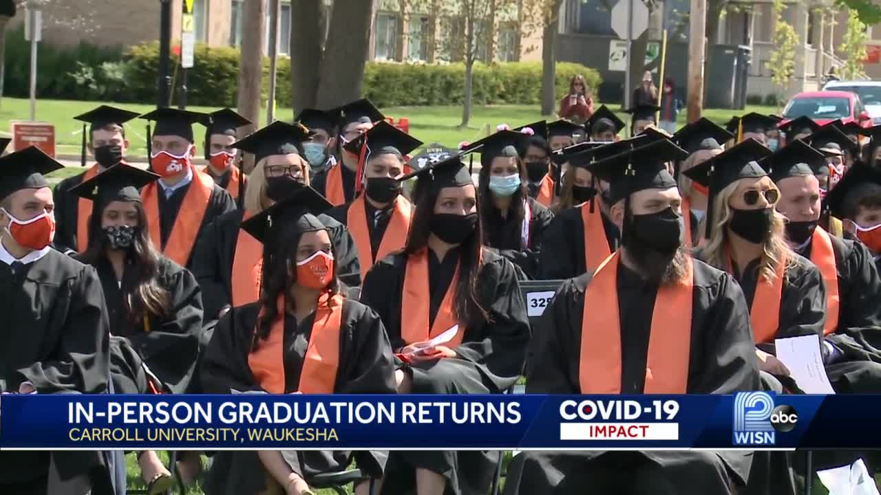 College graduates get to attend in-person commencement ceremonies
