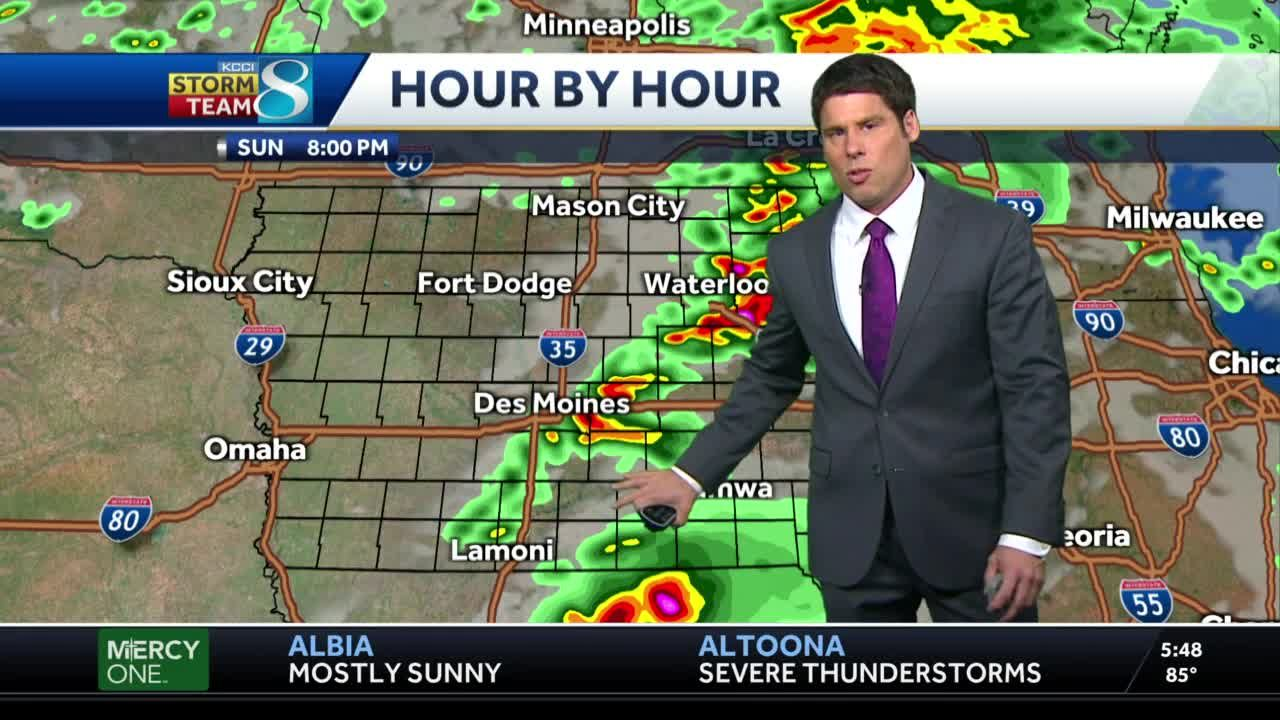Most of Iowa under severe thunderstorm watch through Sunday evening