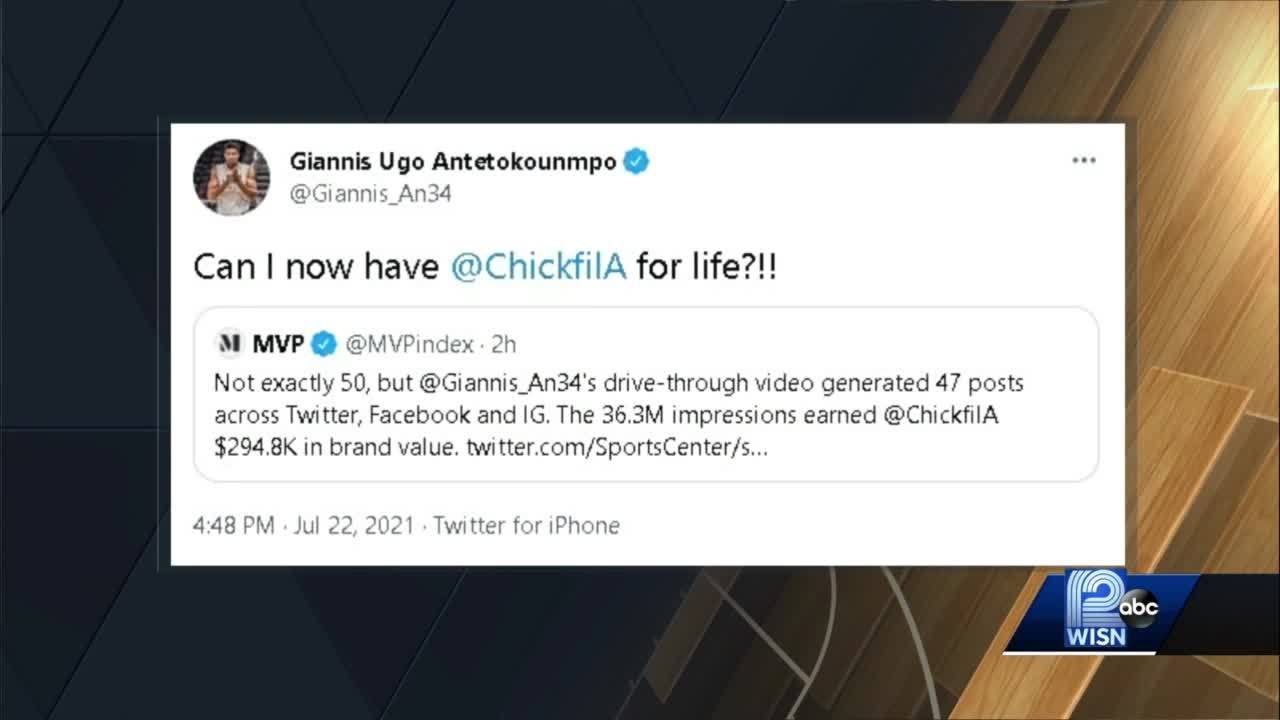 Giannis asks Chick-fil-A for free food for life