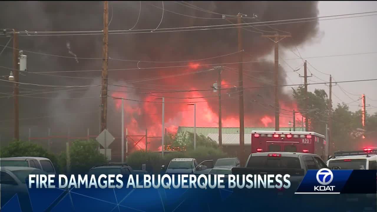 Building bursts into flames in Albuquerque