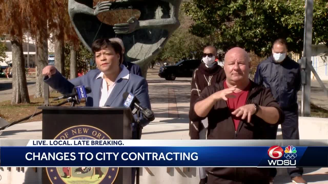 New Orleans leaders outline changes to city contracts with local businesses