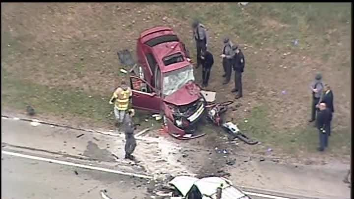 At least one person dead after multi-vehicle accident in