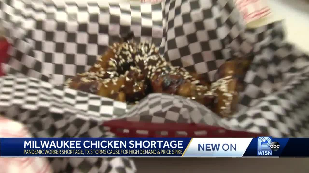 Chicken wing shortage impacts Milwaukee businesses