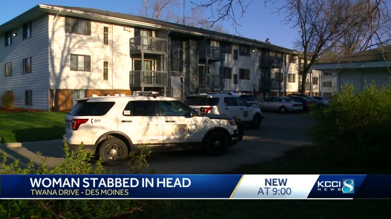 Police investigating after Des Moines woman stabbed in head