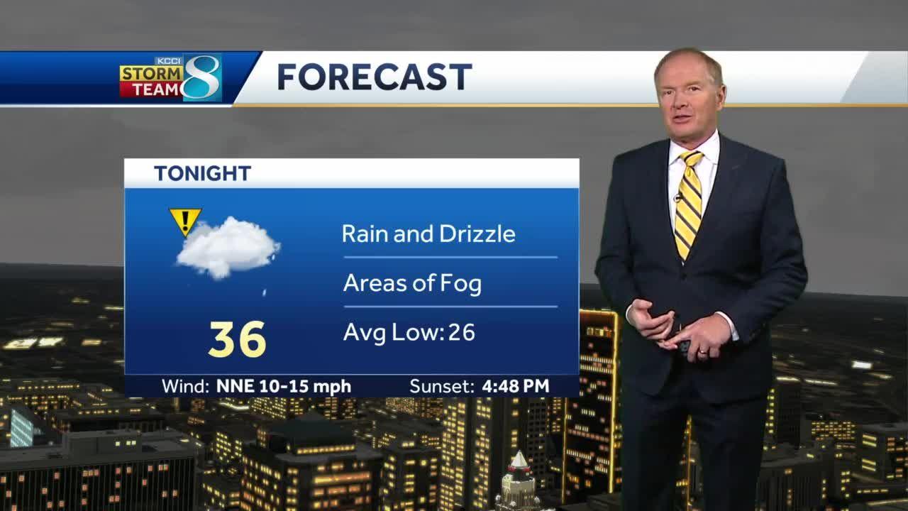 Rain and drizzle continues in central Iowa
