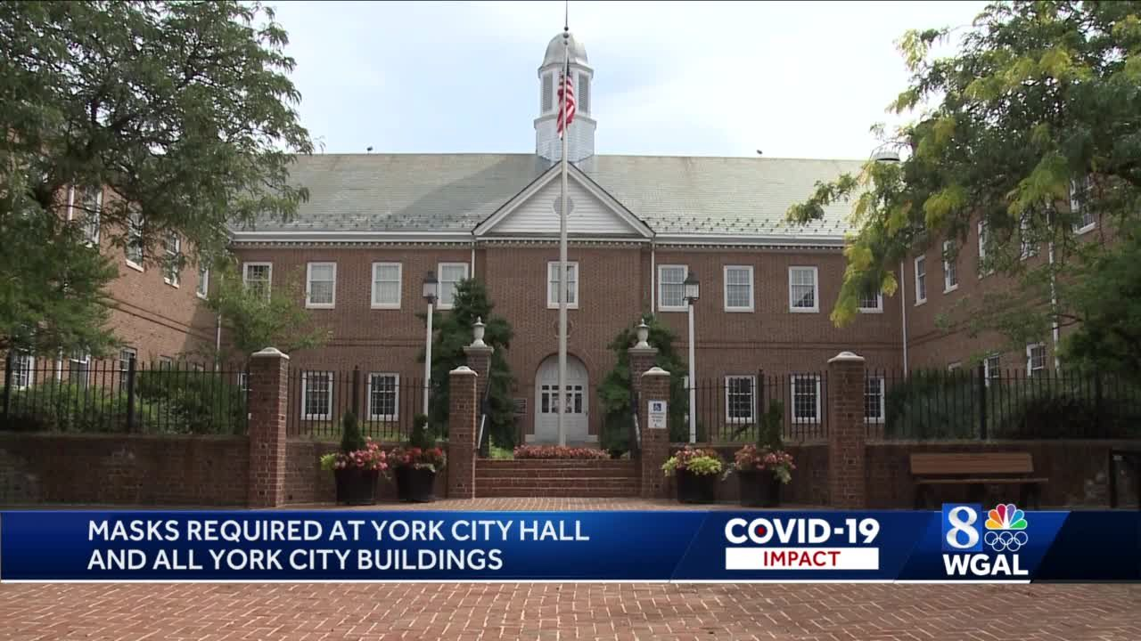 Masks now required at York City Hall, even for fully vaccinated