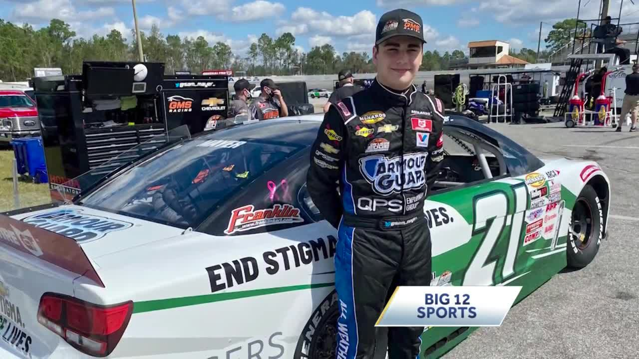 NASCAR rising star Sam Mayer uses victory lane to promote winning causes