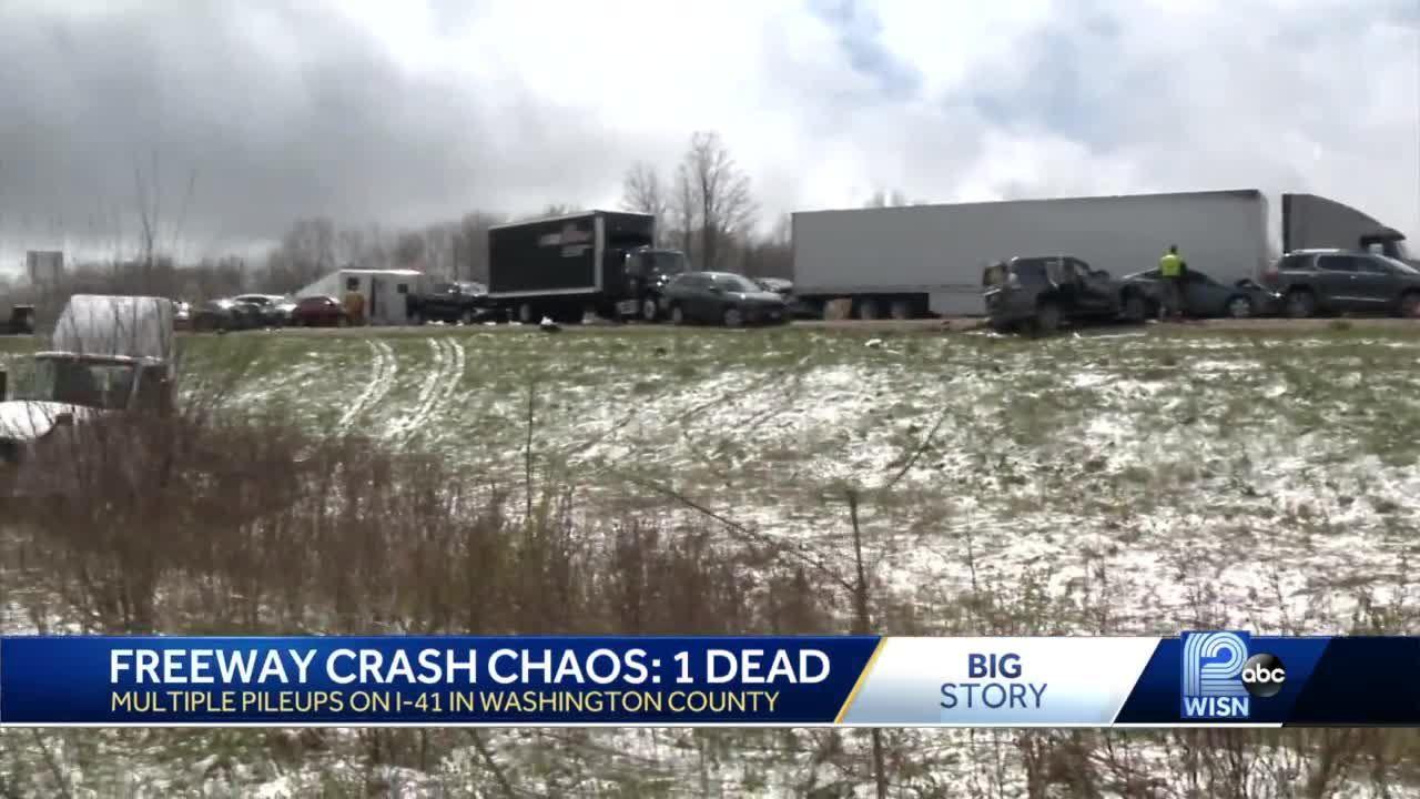 Massive pile up accidents on I-41 Wednesday