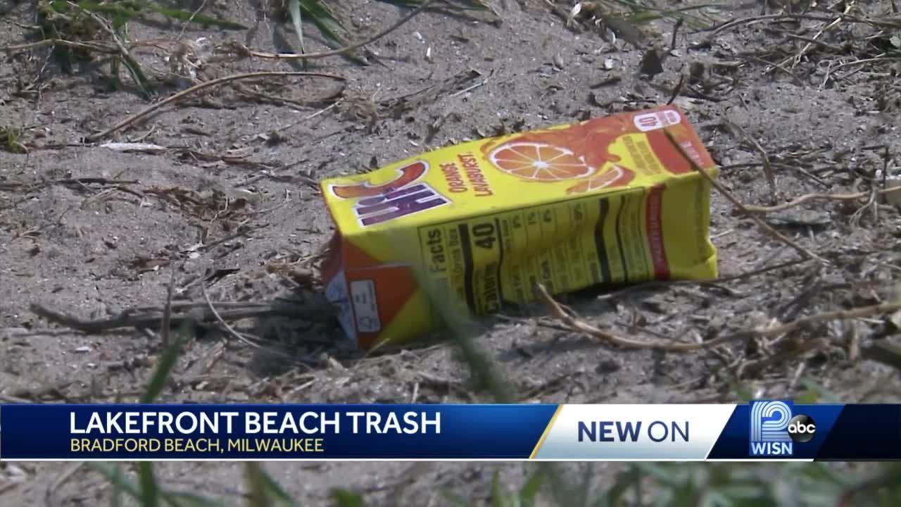 Trash making a mess at Bradford Beach