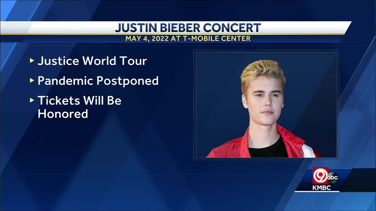 Justin Bieber's bringing his rescheduled Justice World Tour to KC's T-Mobile Center next May