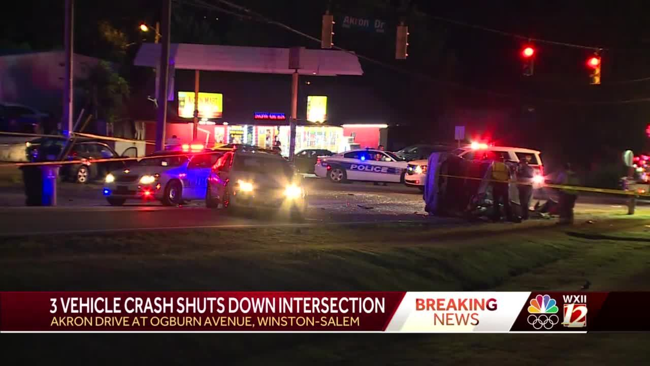 Winston-Salem police investigate crash involving 3 vehicles; intersection closed for 'several hours'