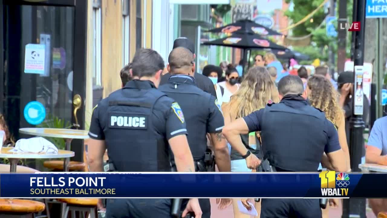 Reaction in Fells Point mixed over heavy police presence