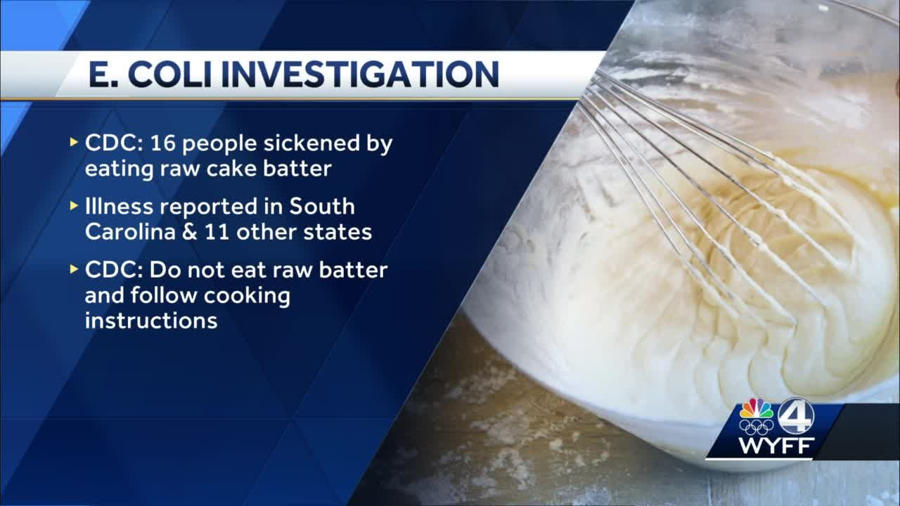 Cake mix linked to E. coli outbreak in 12 states, including South Carolina