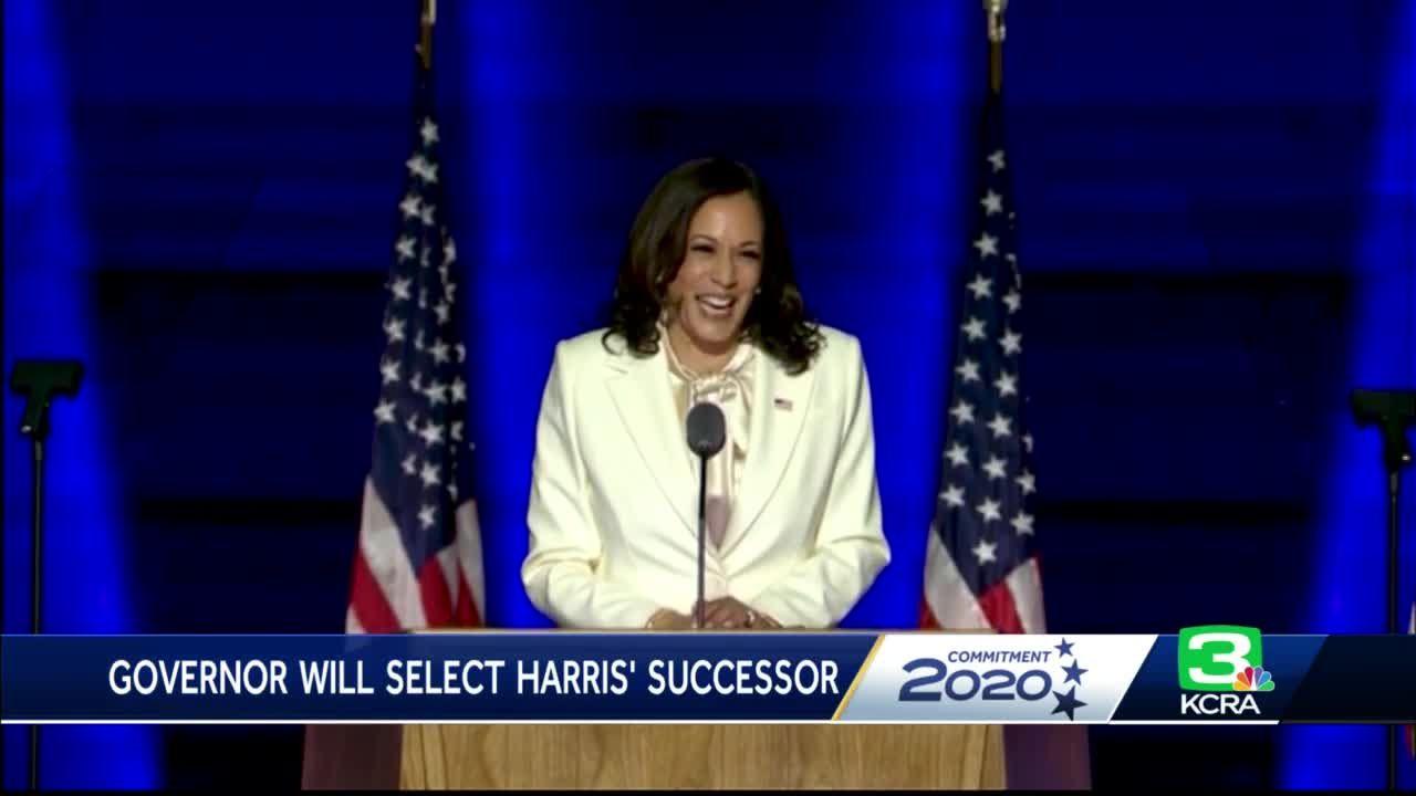 Who will fill Vice President-elect Kamala Harris' Senate seat in California?