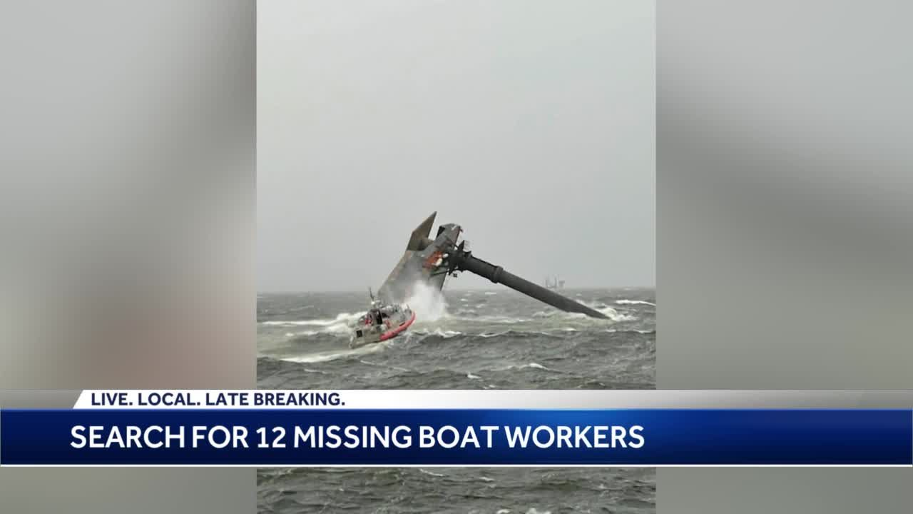 Search for 12 missing after lift boat capsized taking new direction