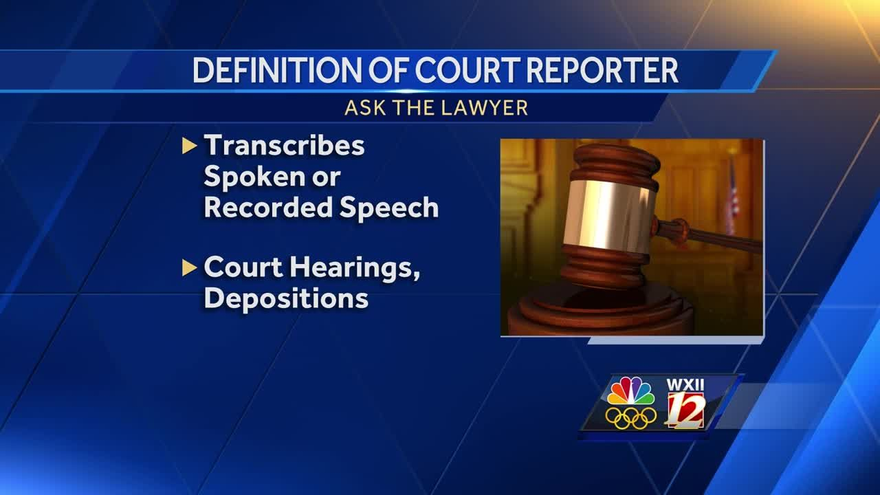 ask the lawyer court reporters